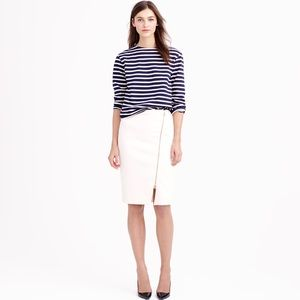 J Crew Asymmetrical Zip Pencil Skirt